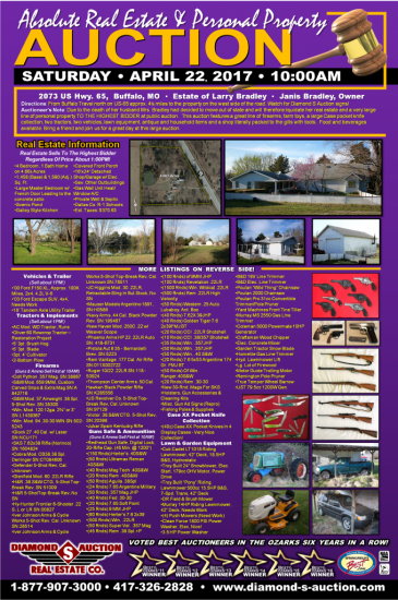 Absolute Real Estate & Personal Property Auction – Postponed To Sunday!