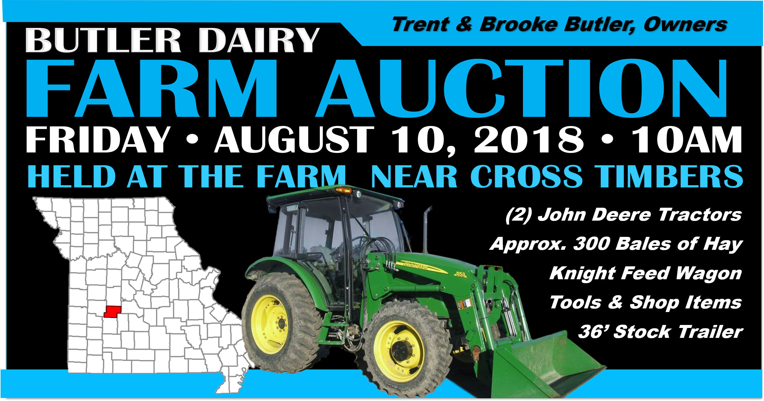 PLEASANT VALLEY RANCH (Butler Dairy) FARM AUCTION