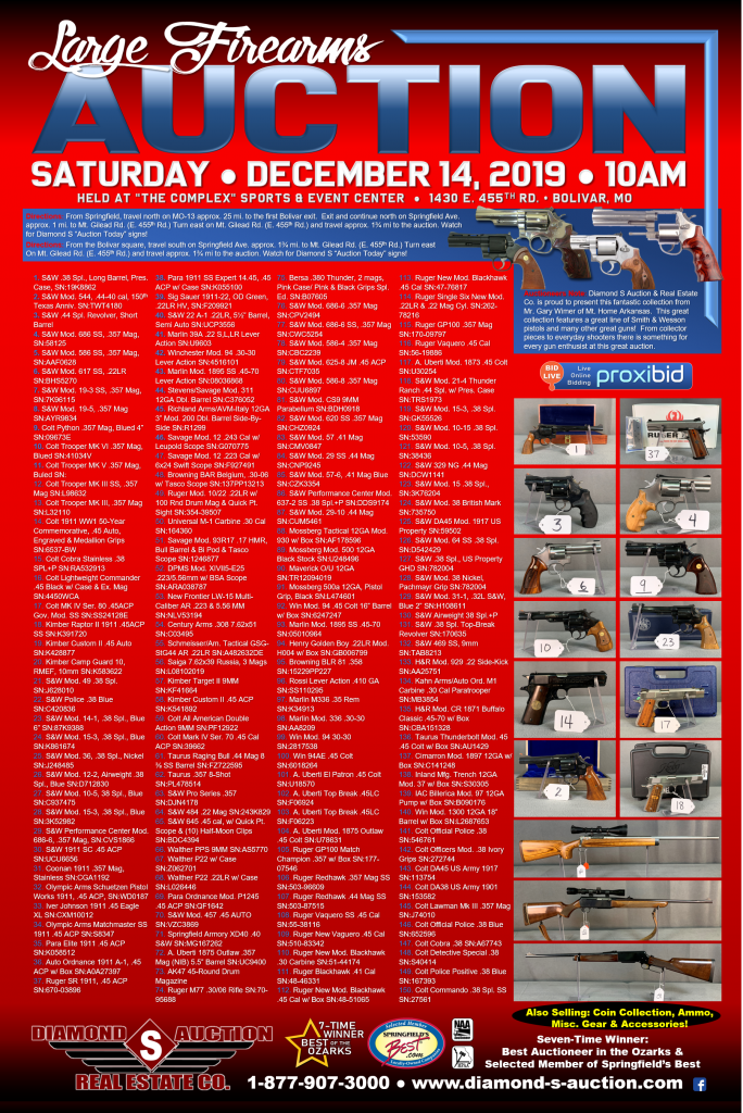 LARGE FIREARMS AUCTION